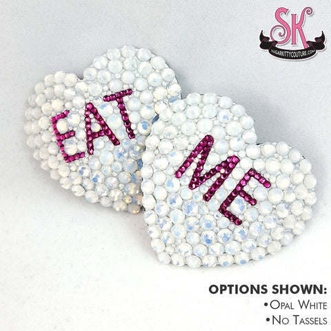 Conversation Heart Candy Rhinestone Pasties