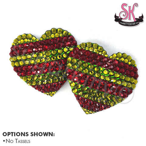 Freddy Krueger Inspired Heart-Shaped Rhinestone Pasties