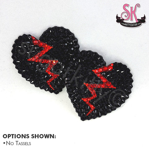 Broken Heart Anti-Valentine's Day Pasties - SugarKitty Couture