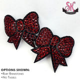 Bow Shaped Rhinestone Pasties