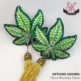Marijuana Pot Leaf Rhinestone Pasties