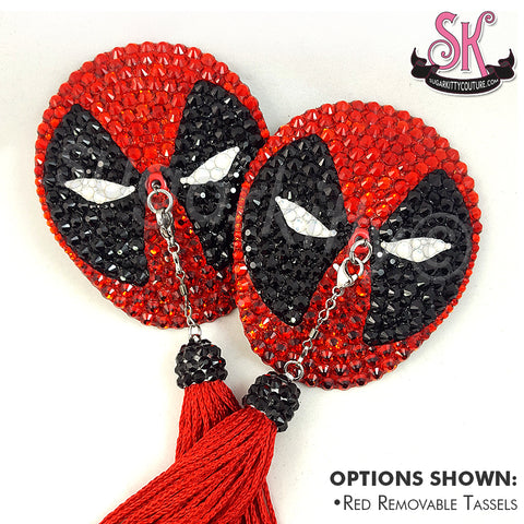 Deadpool Inspired Rhinestone Pasties