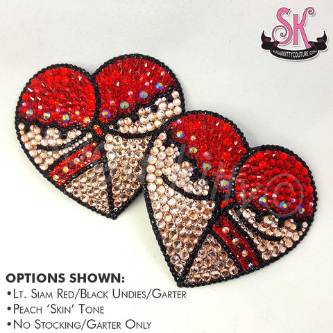 Heart Butt Rhinestone Pasties