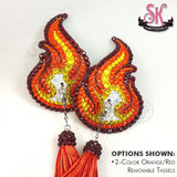 Fire Flames Rhinestone Pasties