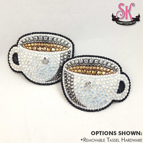 Coffee Cup Rhinestone Pasties
