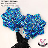 7 Point Star Shaped Rhinestone Pasties
