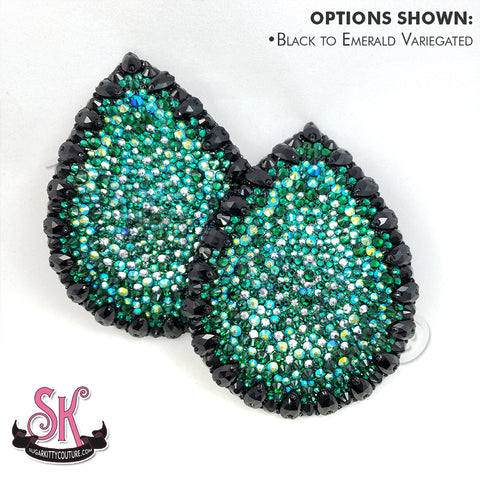 Variegated Tear Drop Rhinestone Pasties
