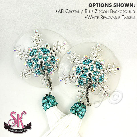Snowflake Nearly Nude Illusion Rhinestone Pasties