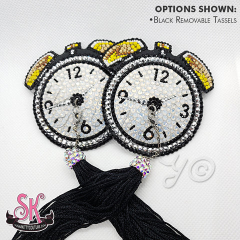 Alarm Clock Rhinestone Pasties - SugarKitty Couture
