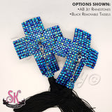 Cross Crucifix Rhinestone Nipple Pasties - SugarKitty Couture