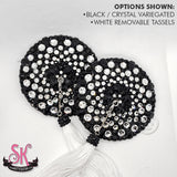 2-Color Variegated Round Rhinestone Pasties - SugarKitty Couture