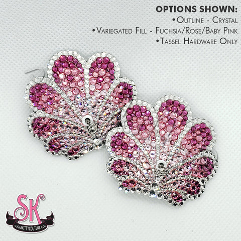 Art Deco Shell Rhinestone Pasties