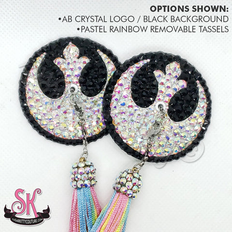 Rebel Alliance Logo Star Wars Inspired Rhinestone Pasties