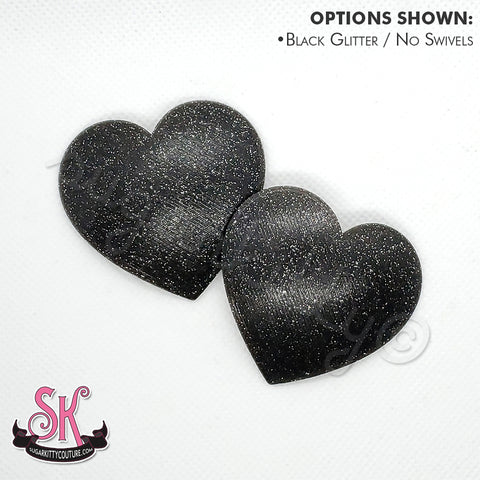 Glitter HEARTS Blank Pastie Bases