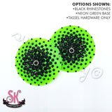 Round Translucent Base Illusion Rhinestone Pasties