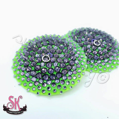 Translucent Base Floating Edge Illusion Rhinestone Pasties
