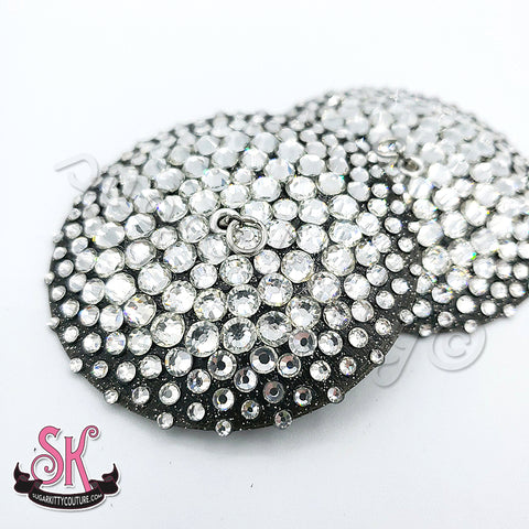 Glitter Base Floating Edge Illusion Rhinestone Pasties