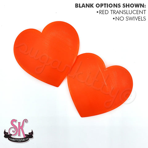 Translucent HEART SHAPED Blank Pastie Bases