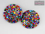Caliope Riot Rainbow Rhinestone Pasties - SugarKitty Couture - 1