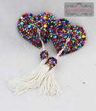 Heart-Shaped Caliope Riot Rainbow Rhinestone Pasties - SugarKitty Couture - 4