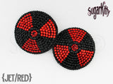 Nuclear Radioactive Symbol Rhinestone Pasties - SugarKitty Couture - 4