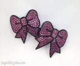 Bow Shaped Rhinestone Pasties - SugarKitty Couture - 2