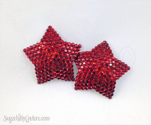 5-Point Star Shaped Rhinestone Pasties - SugarKitty Couture