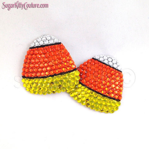 Candy Corn Rhinestone Pasties - SugarKitty Couture