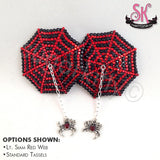 Spiderweb Rhinestone Nipple Pasties