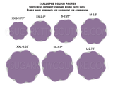 Glitter SCALLOPED ROUND Blank Pastie Bases