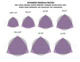 ROUNDED TRIANGLE Blank Pastie Bases