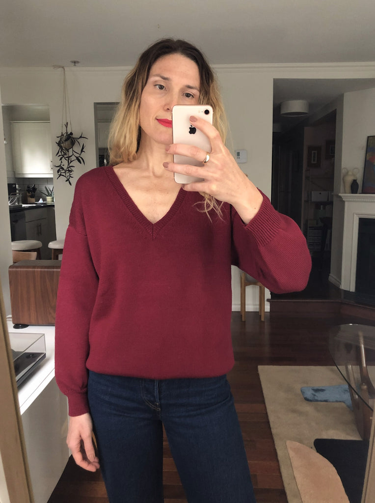 EMMA Sweater in Burgundy - Small