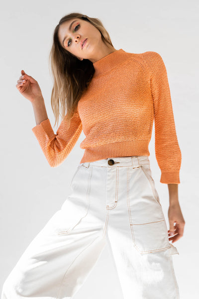 JONI Sweater in Tangerine