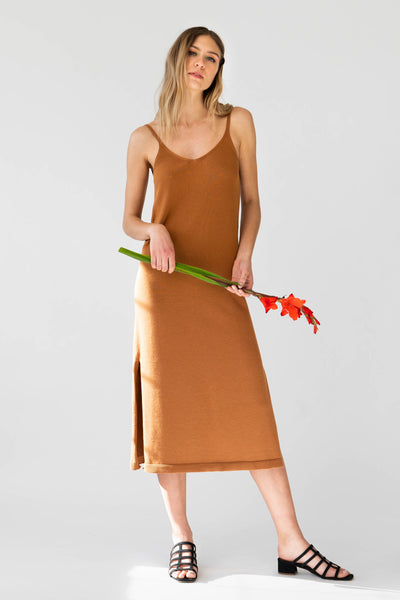 PETRA Dress in Caramel