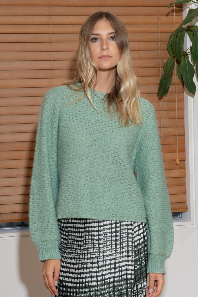 CAROLYN Sweater in Hazy Green