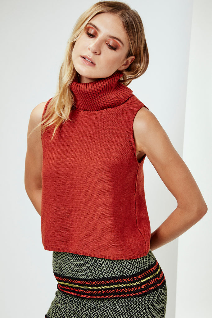 AMANDA Sweater in Rust