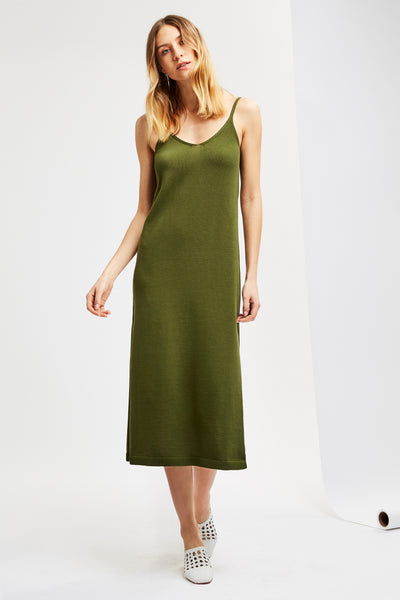 PETRA Dress in Dark Moss