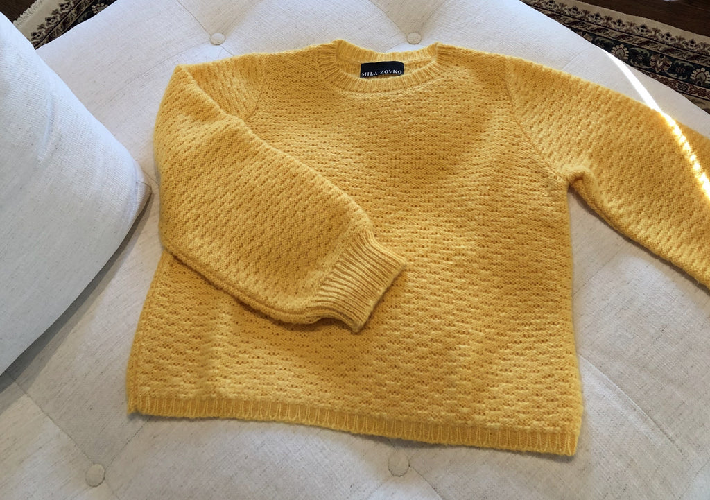 CAROLYN Sweater in Lemon