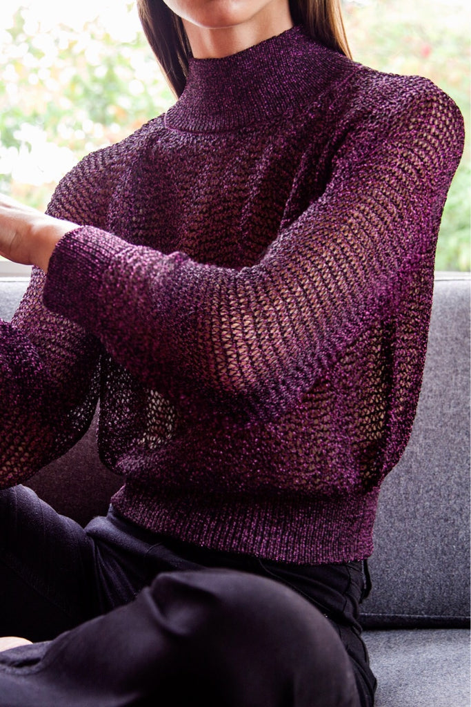 JONI Sweater in Dark Berry
