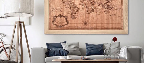 Unique Wood World Map