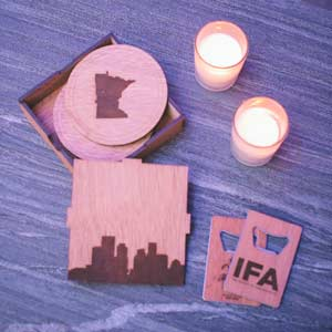 WOODCHUCK USA EVENT SWAG Table Display