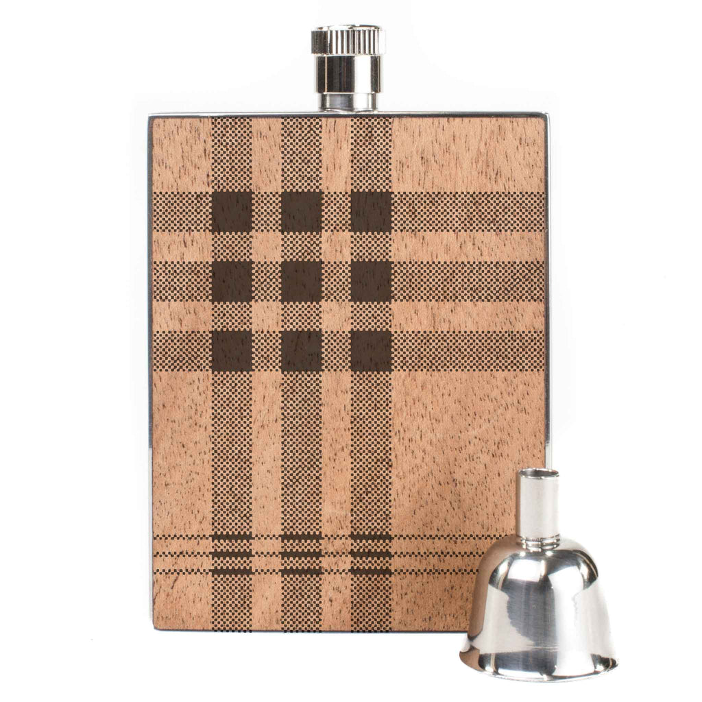 WOODCHUCK Plaid 3oz Flask