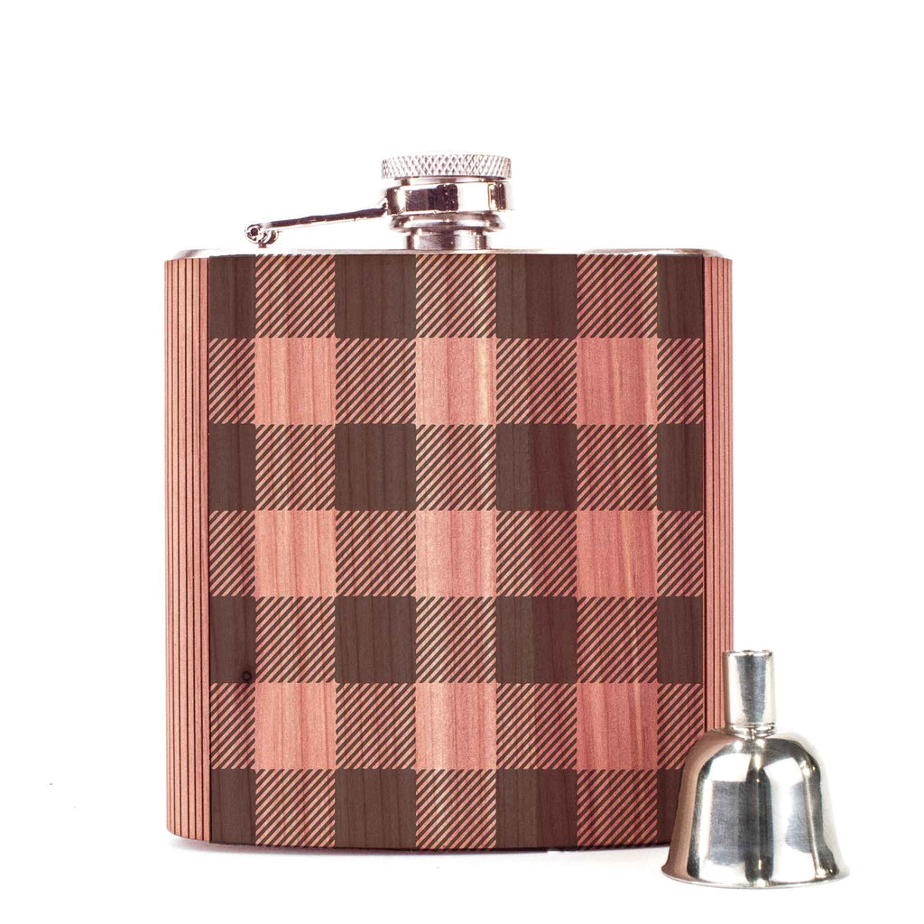 Plaid 6oz Flask