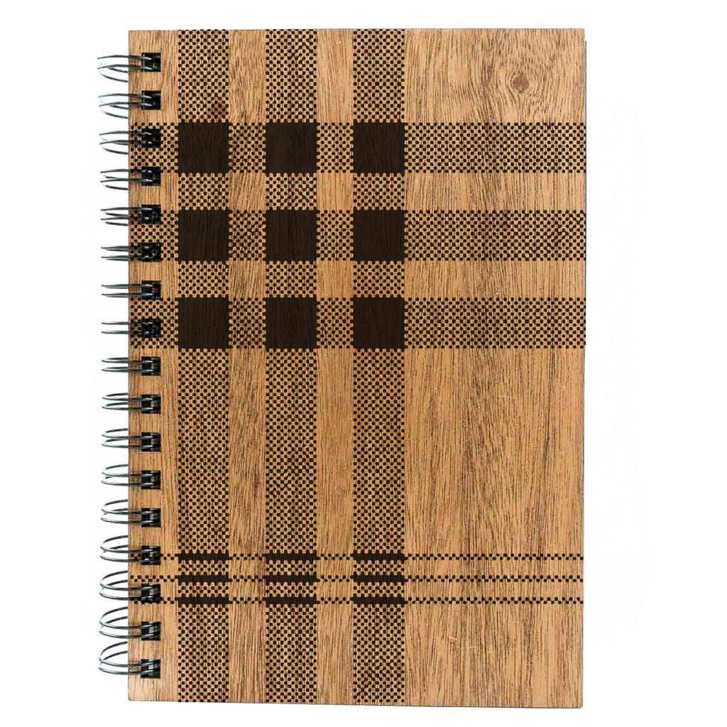 WOODCHUCK Plaid Spiral Journal