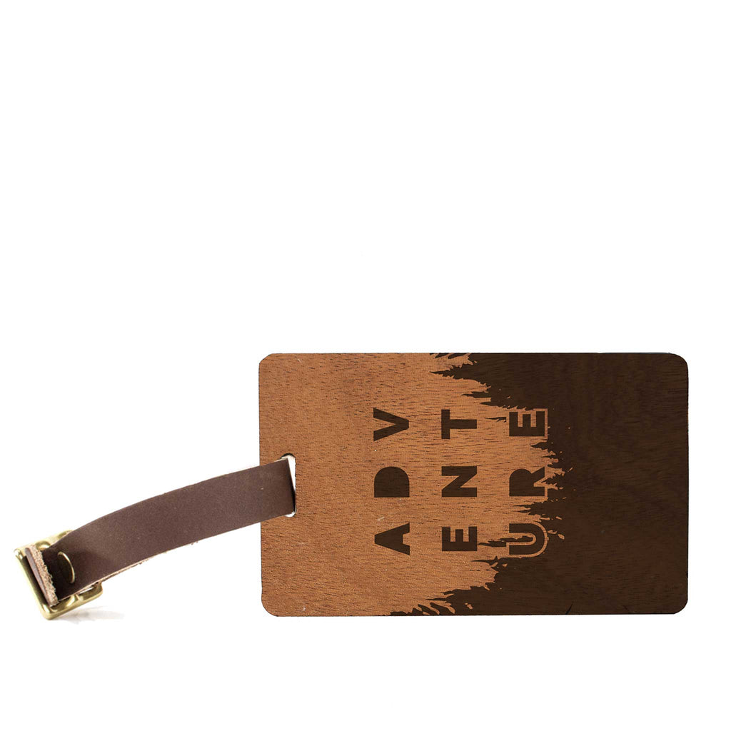 Adventure Edition Wood Luggage Tag