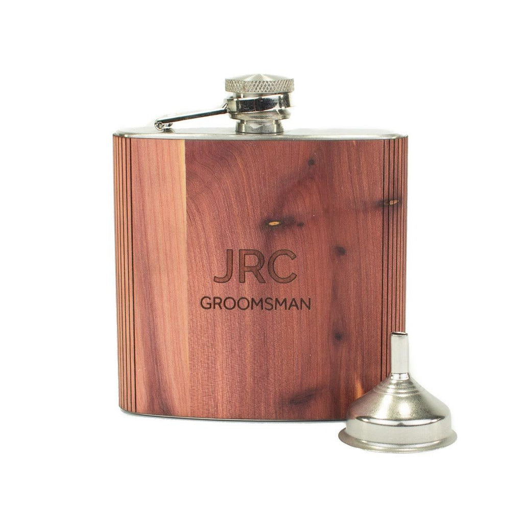 Custom Groomsmen 6oz Flask - Woodchuck USA