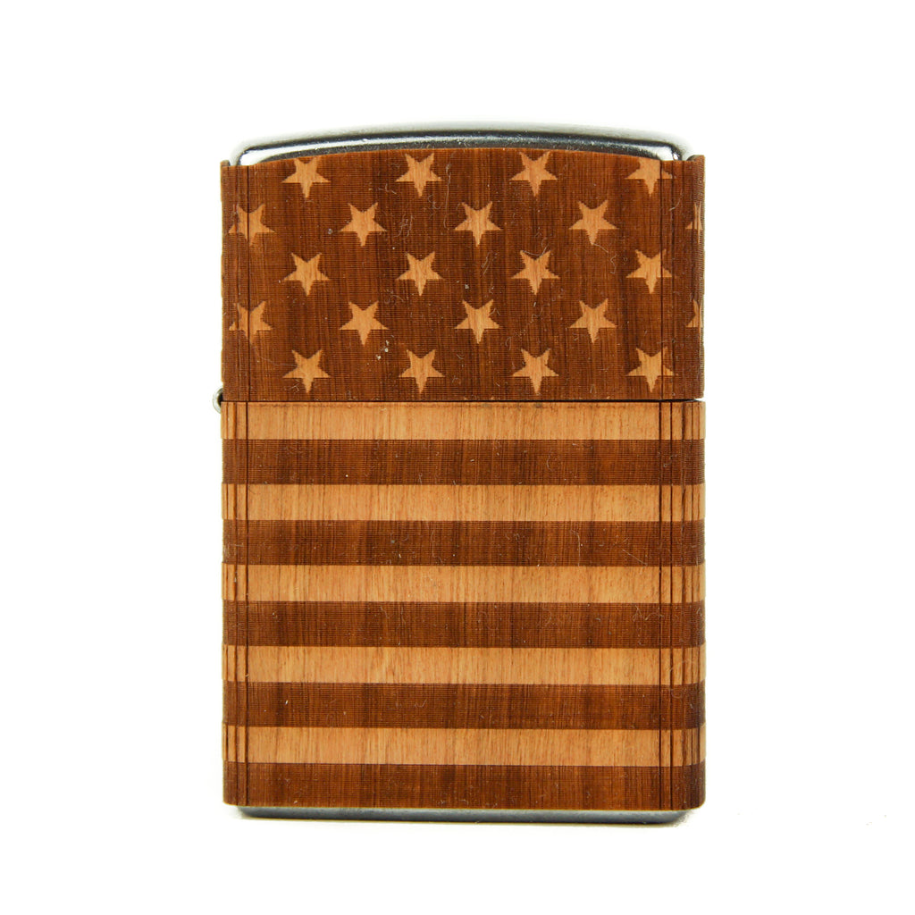 American Flag Full-Wrap Zippo Lighter