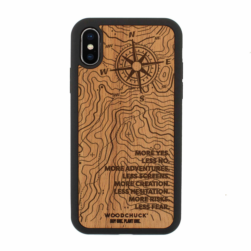 More Adventure Real Wood iPhone Case