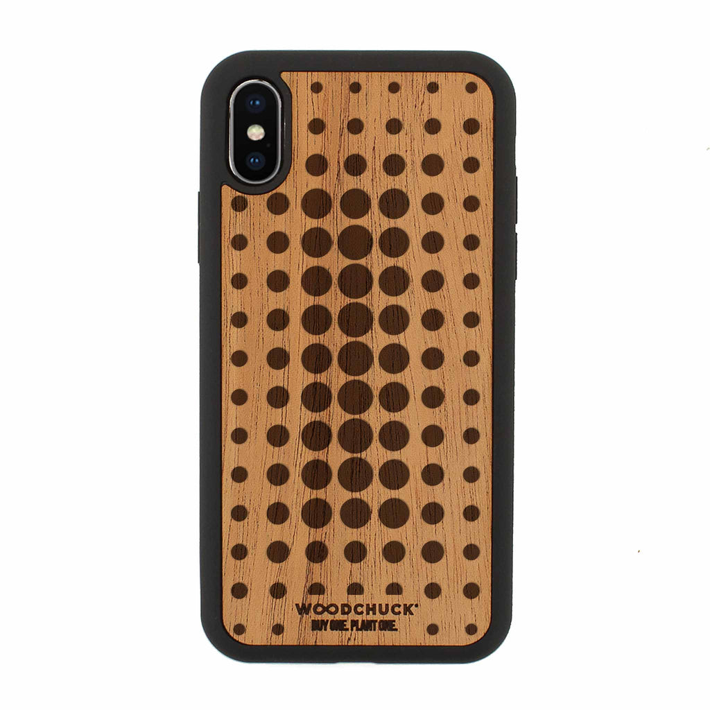 Space Dot Real Wood iPhone Case