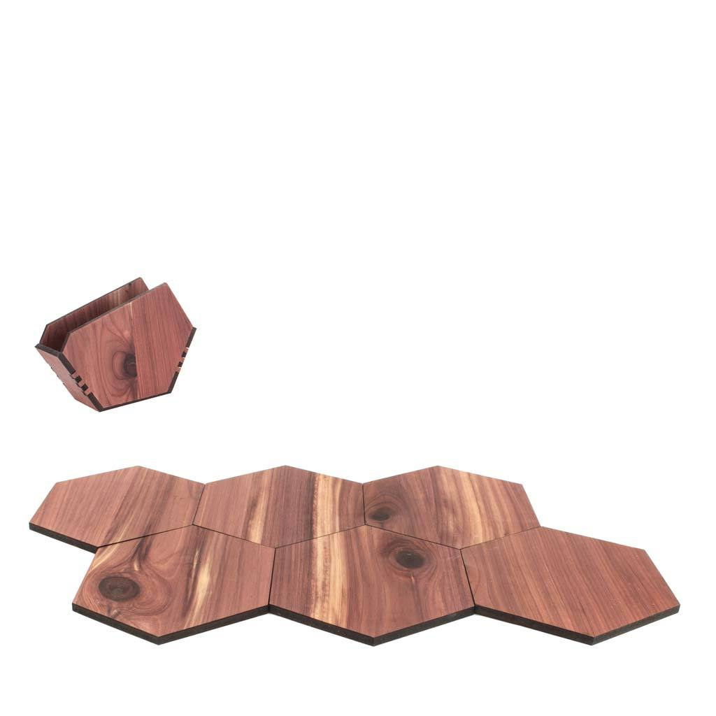 Wood Puzzle Coaster Set - Woodchuck USA